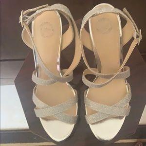 Women's silver size 11 sandals.